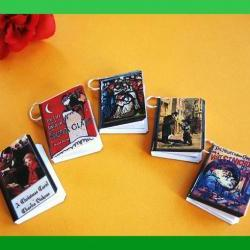 Christmas Miniature Book Charms Set of 5